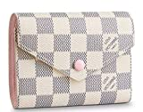 Best Designer Compact wallets 2019 Victorine Zippy coin purse High END original Leather Pocket Organizer Damier White Canvas N64022
