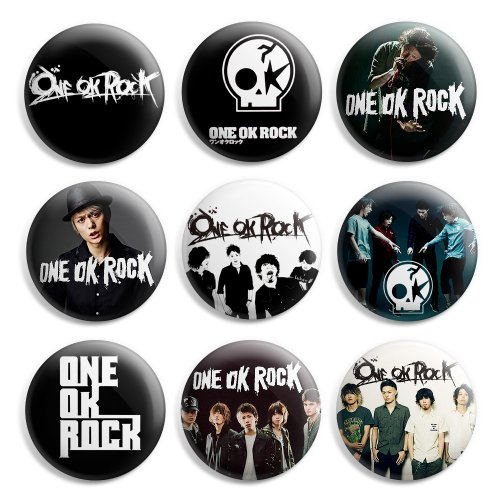 One Ok Rock Pinback Buttons Pin Badges 1 Inch (25mm) - Pack of 9