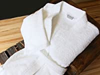 Luxor Linens - Terry Cloth Bathrobes - 100% Egyptian Cotton His & Her Bathrobe- Luxurious, Soft, Plush Durable Set of Robes - Available with Customized Monogram