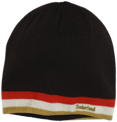 Timberland Men's Reversible Beanie, Brown, One Size