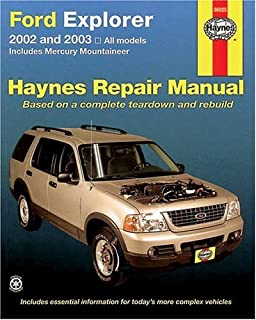 ford explorer mercury mountaineer 2002 through 2003 chilton s rh amazon com