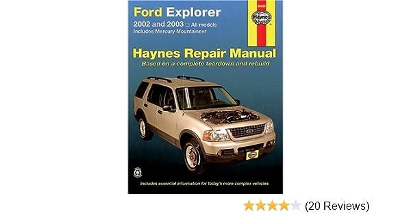 2002 ford explorer repair manual
