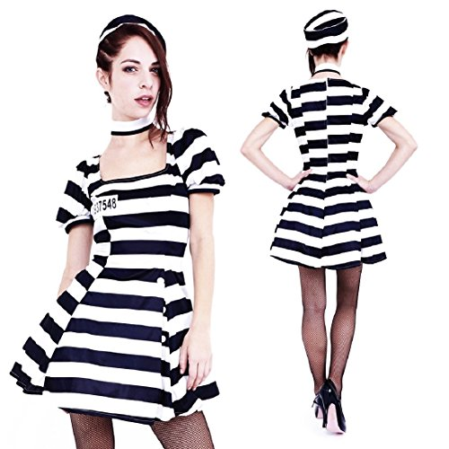 Club Queen -- Short-Style Women's Prison Outfit (Costume) --XS to Small Size