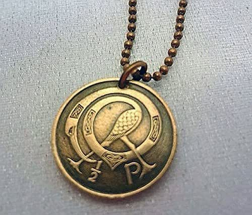 Amazon.com: Irish Coin necklace. Tiny CELTIC COIN NECKLACE ... | 500 x 428 jpeg 47kB