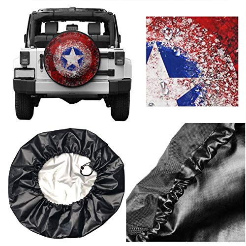 Spare Tire Cover Captain America Art Universal Waterproof Dust-Proof Wheel Covers