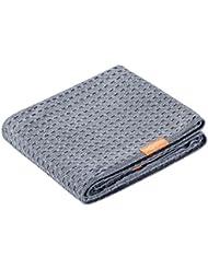 Waffle Luxe Long Hair Towel Moody Grey