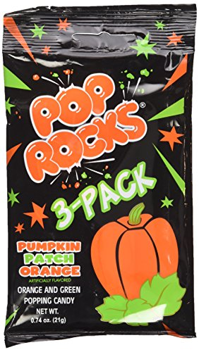 Pop Rocks Halloween Pumpkin Patch Orange 3 (Halloween Candy Pops)