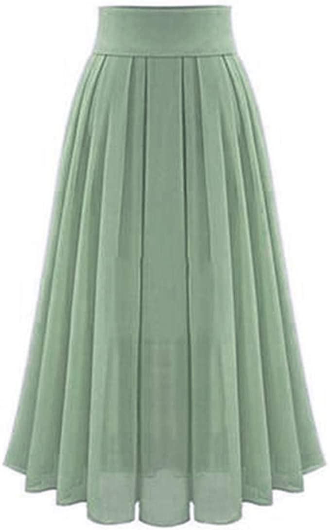 check out wholesale free shipping Amazon.com: High Waist Long Skirt, Women Vintage Loose Pleated A ...