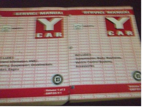 2005 Chevrolet Chevy Corvette Service Shop Repair Manual Set FACTORY BOOK OEM (2 volume set)