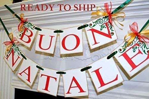 Buon Natale 4x4.Buon Natale Italian Buon Natale Banners Italian Christmas Banners