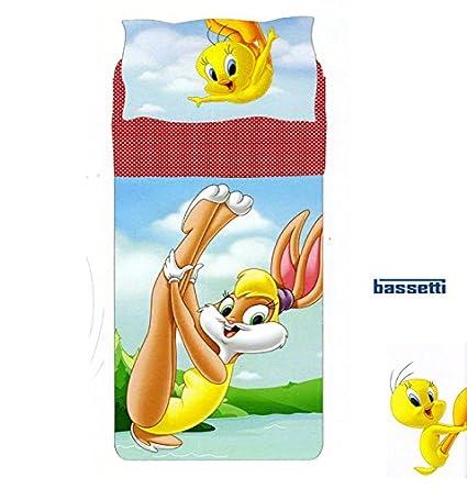 Bassetti Looney Tunes Lenzuola Copriletto.Looney Tunes Completo Lenzuola Copriletto Lola Bunny Tweety Una