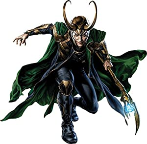 Loki decal removable wall sticker decor art for Avengers wall mural amazon