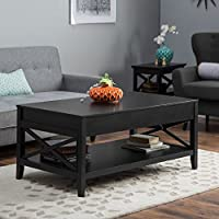 Belham Living Hampton Lift-Top Coffee Table - Black