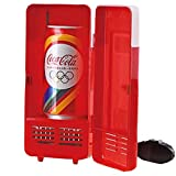 Mini USB LED PC Car Refrigerator Fridge Beverage Cola Drink Cans Food Cooler Warmer (Red)