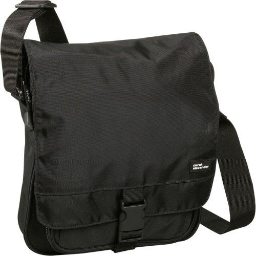 Derek Alexander Leather Organizer Nylon Travel Shoulder Bag – Black, Bags Central