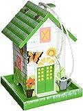 Home Bazaar Butterfly Birdfeeder, Dark Green