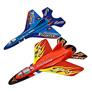 Fighter Jets Airplane Toys Set of 2 – Outdoor Toys for Kids – Includes 2 Jets and One Launcher – High Flying Speed – Safe and Durable Materials – Ideal for Outdoor Play, Boys and Girls
