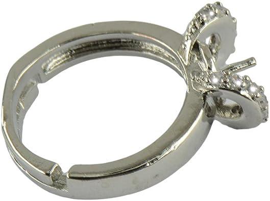 Ringfassung Sharplace 100 STK Ringrohling aus Messing Silberfarbe 8mm Verstellbare Ringschiene