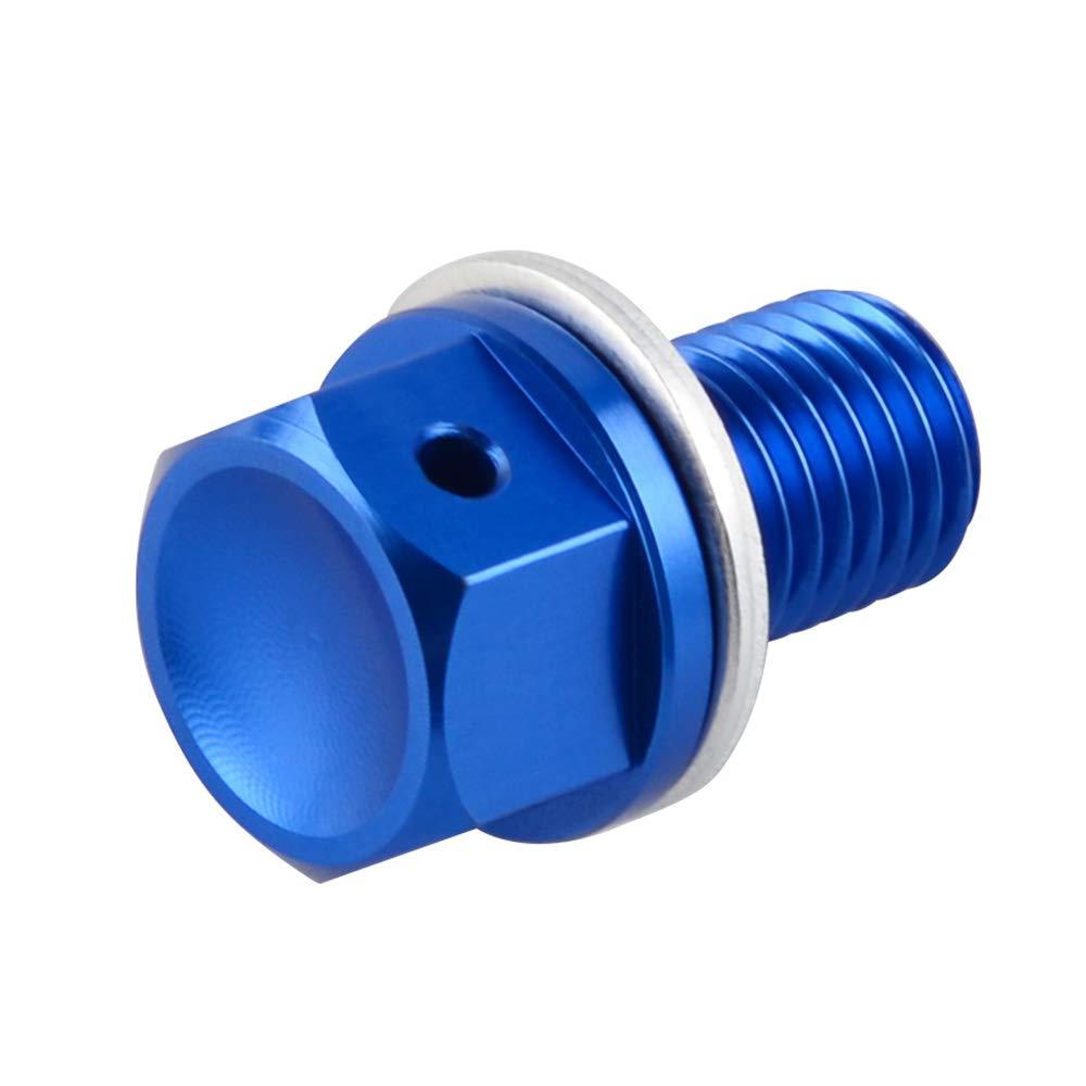 H2Racing Motor Blau M10 x P1.25 Magnetisch /Ölablassschraube Schrauben f/ür DRZ400S//E//SM Not Fit 2012-2015 ,WR450F 2004-2011 2016-2017 Frame 2000-2017,YZ450F 2003-2009 2014-2017 Not Fit 2010-2013