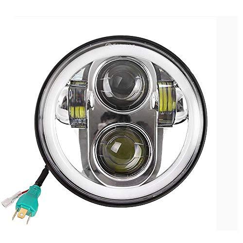 Daymaker Led-koplamp voor Harley-Davidson-motorfiets, 14 cm, rond, 45 W, Halo-Angel-Eyes