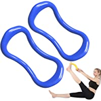 Yoga Ring Pilates Training Ring 2 Pack for Back and Leg Pain Home Workouts Gym for Stretches and Strengthen Chest Thighs Arms Core