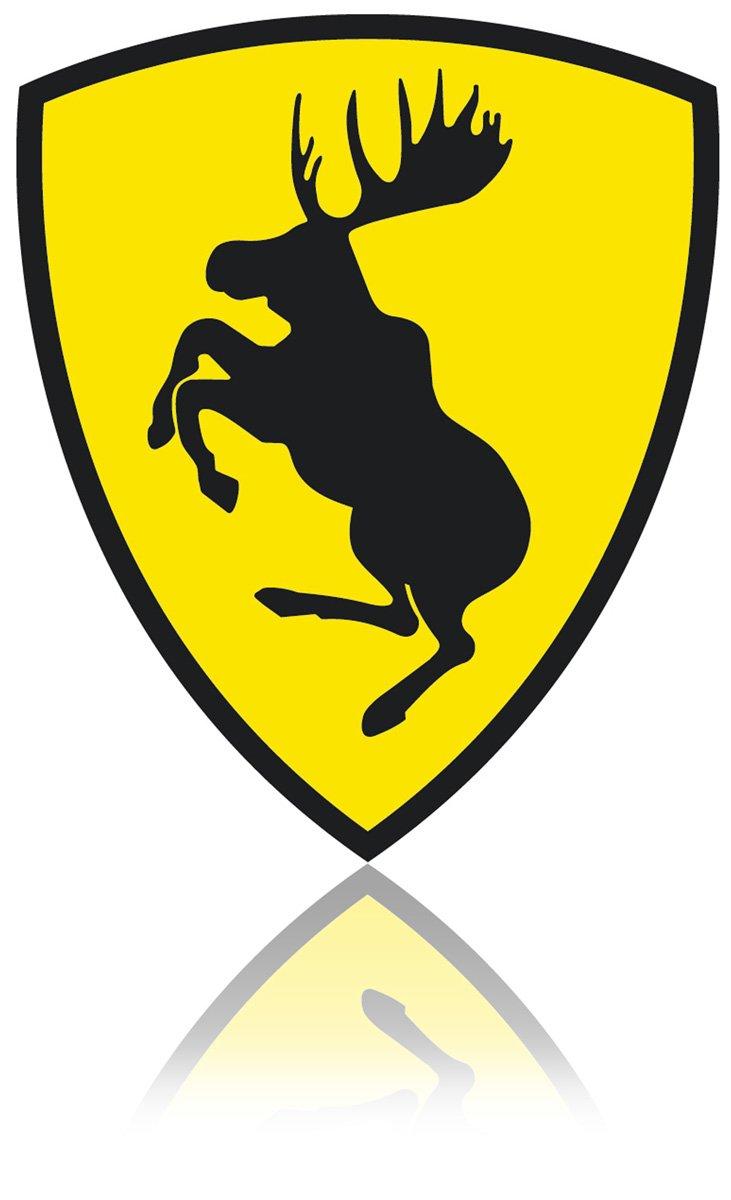 SKANDIX Aufkleber – Ferrari Elch OEM