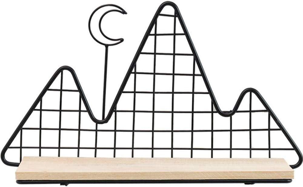 ZHJBD Expositor de decoración del hogar/Hierro Forjado Colina Creativo partición decoración del hogar nórdico Pared del Viento Colgar de la Pared