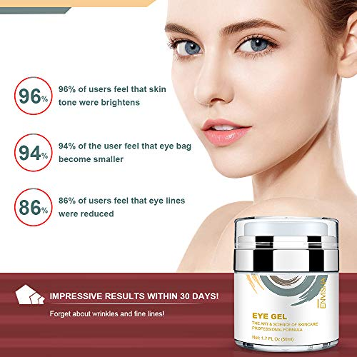 515QcsgvnWL - Wumal Eye Gel Cream for Appearance of Dark Circles, Puffiness, Wrinkles and Bags - Effective Anti Aging Eye Cream for Men and Women