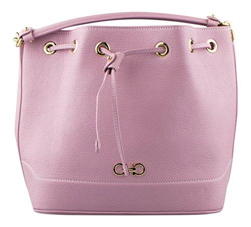 SALVATORE FERRAGAMO Marshmallow Pink Millie Bucket Drawstring ()