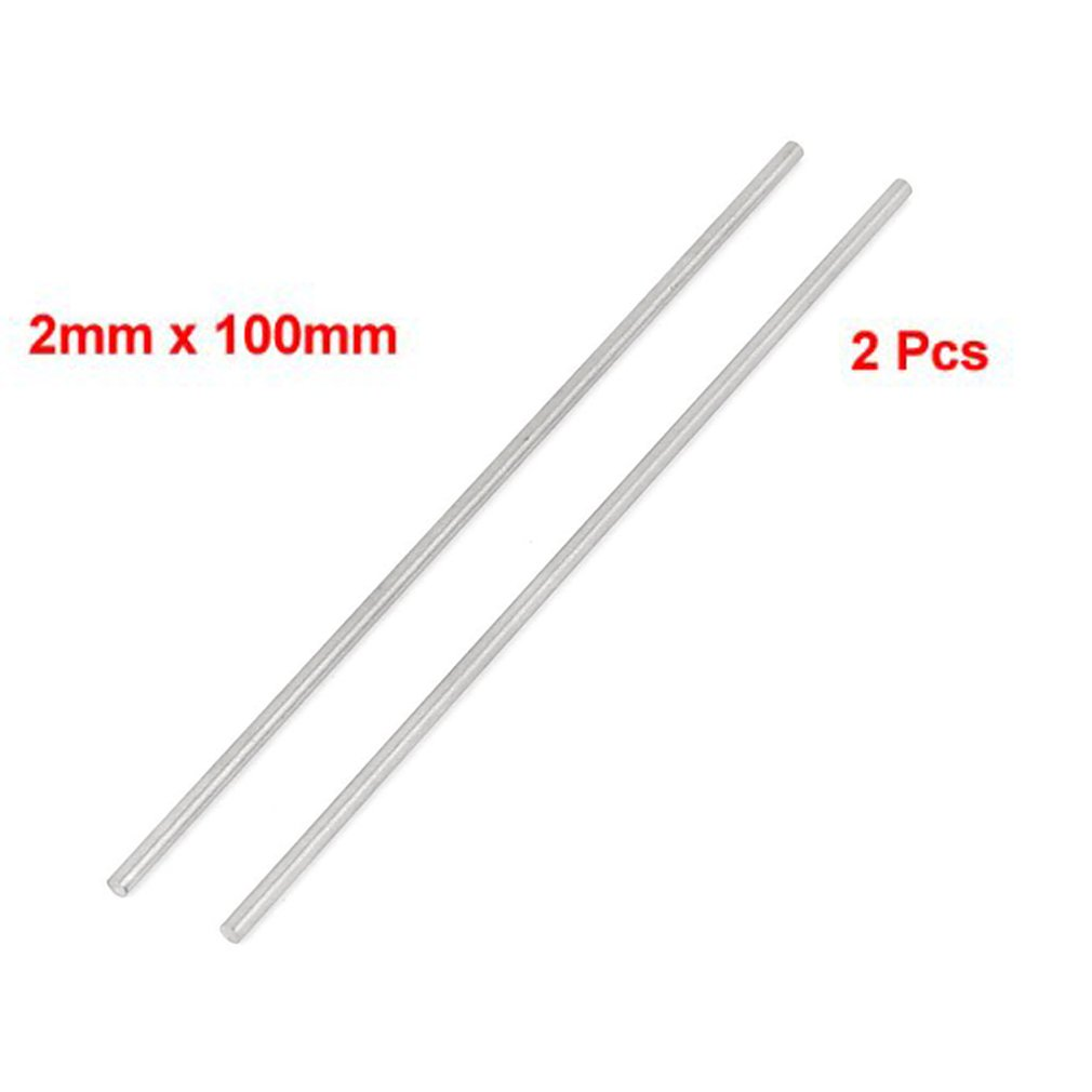 SODIAL(R) 2 Pcs HSS High Speed Steel Round Turning Lathe Bars 2mm x 100mm
