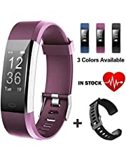 Lintelek Fitness Tracker waterproof IP67 pedometer Activity tracker for heart rate monitor with GPS track attached,Step Tracker for Kids, Women, and Men