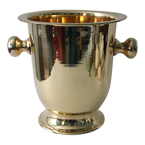 Classic Brass Wine Champagne Chiller Bucket With Handles -
