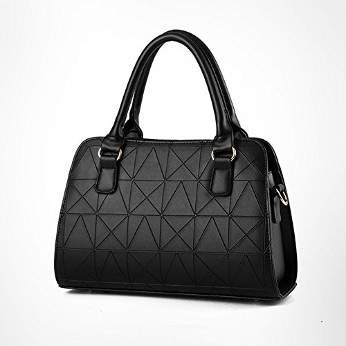 aged Messenger Bag Bag Leather Shopping Travel Middle New Black Shoulder PU Lady 2018 Bag 4TEPqn