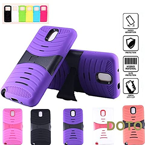 Note 3 Case,Galaxy Note 3 Case [HEAVY DUTY]2 Layers Hybrid Soft Silicone+Hard Plastic anti-skid Shockproof Drop Resistance Protective Case Cover with Kickstand for Samsung Galaxy Note 3 (Purple (Galaxy Note 2 3 Layer Case)
