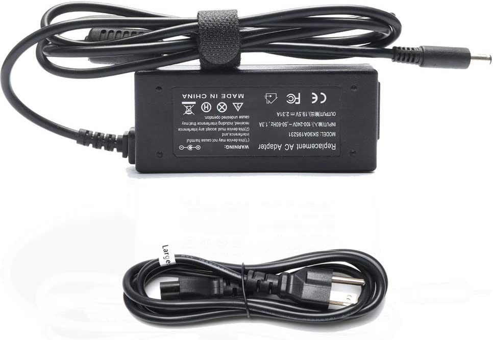 45W 19.5V 2.31A AC Adapter Laptop Charger for Dell Vostro 15 3565 5568 Inspiron3147 3552 5368 15 3565 XPS 13 9350 9333 Ultrabook LA45NM140 HA45NM140 HK45NM140 Notebook Laptop Power Supply Adapter Cord
