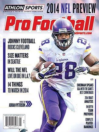 2014 Athlon Sports NFL Pro Football Magazine Preview- Minnesota Vikings Cover