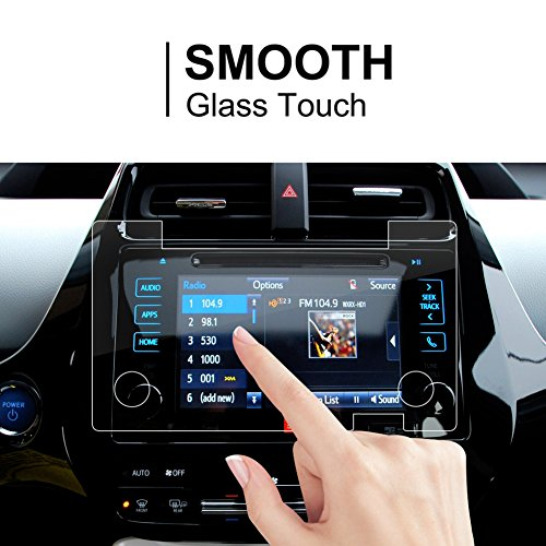 2016-2018 Toyota Mirai Prius Tacoma 7 Inch Car Navigation Screen Protector, LFOTPP Clear TEMPERED GLASS Infotainment Display In-Dash Center Touch Screen (Toyota Prius Navigation)