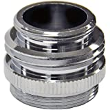 "Danco, Inc. 15/16""-27M / 5/64""-27F X 3/4"" GHTM or 55/64""-27M CHROME MULTI THREAD GARDEN HOSE AERATOR ADAPTER Chrome"
