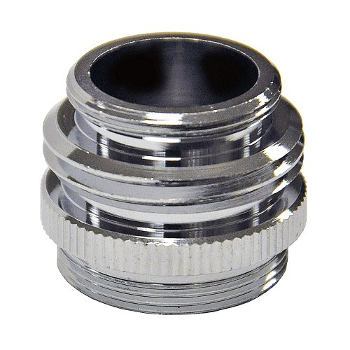 DANCO Multi-Thread Garden Hose Adapter for Male to Male and Female to Male, Chrome, 1-Pack - Faucet Quick Connect Adapter
