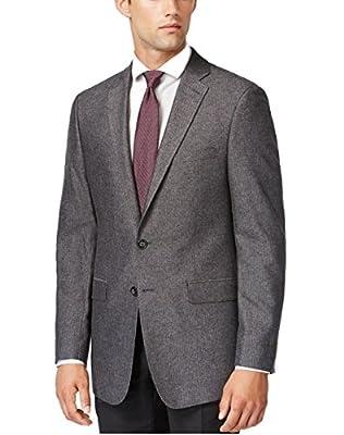 Calvin Klein Modern Fit Grey Herringbone Two Button New Men's Sport Coat