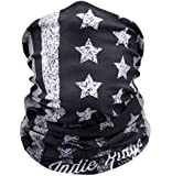 American Flag Outdoor Face Mask Buff By IndieRidge - 100% Microfiber Multifunctional Seamless Headwear, Great For Burning Man