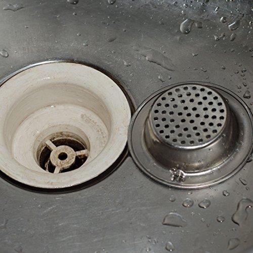 Stainless steel kitchen sink strainer large wide rim 4 - Kitchen sink rim ...