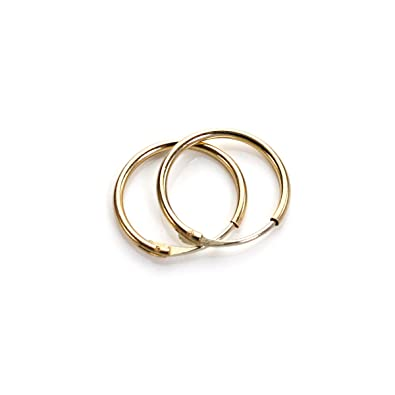 9ct Gold Plain 10mm - 20mm Hoop Sleeper Hoops / Sleepers / Earrings oCj7dfK8u5