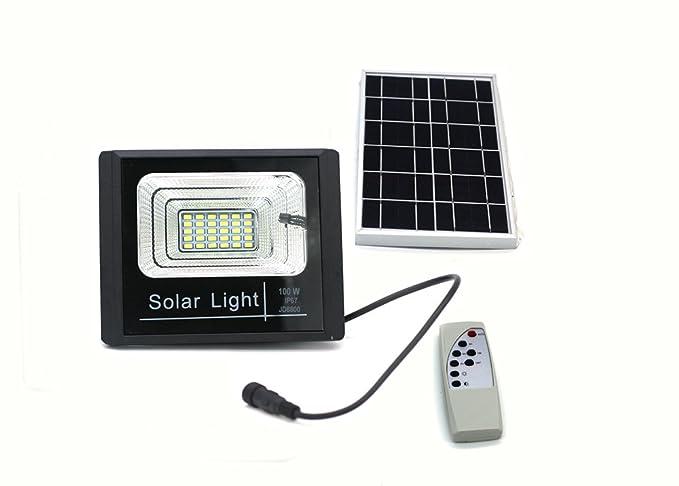Khebang faretto led con pannello solare per illuminazione esterna