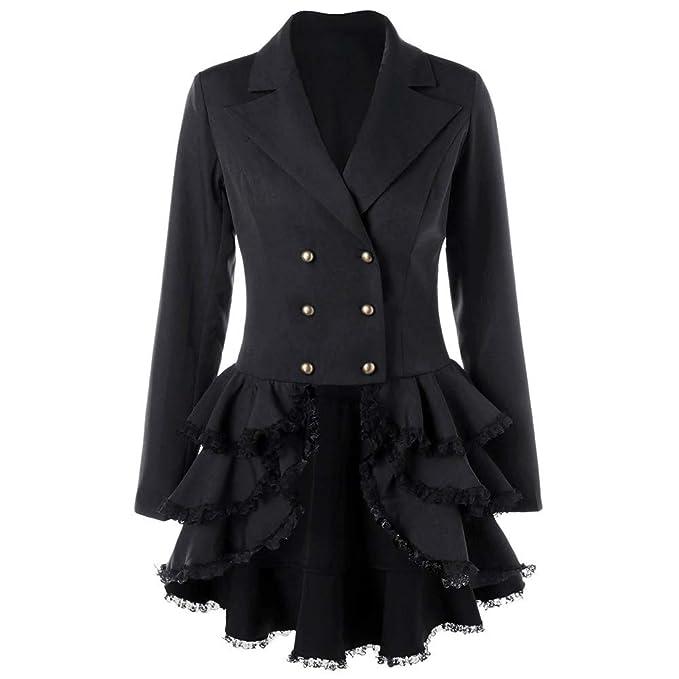 Giacche E Cappotti da Donna Yesmile Donna Manica Lunga Giacca Blazer in  Pizzo Slim Jacket con 9ccf6f55618