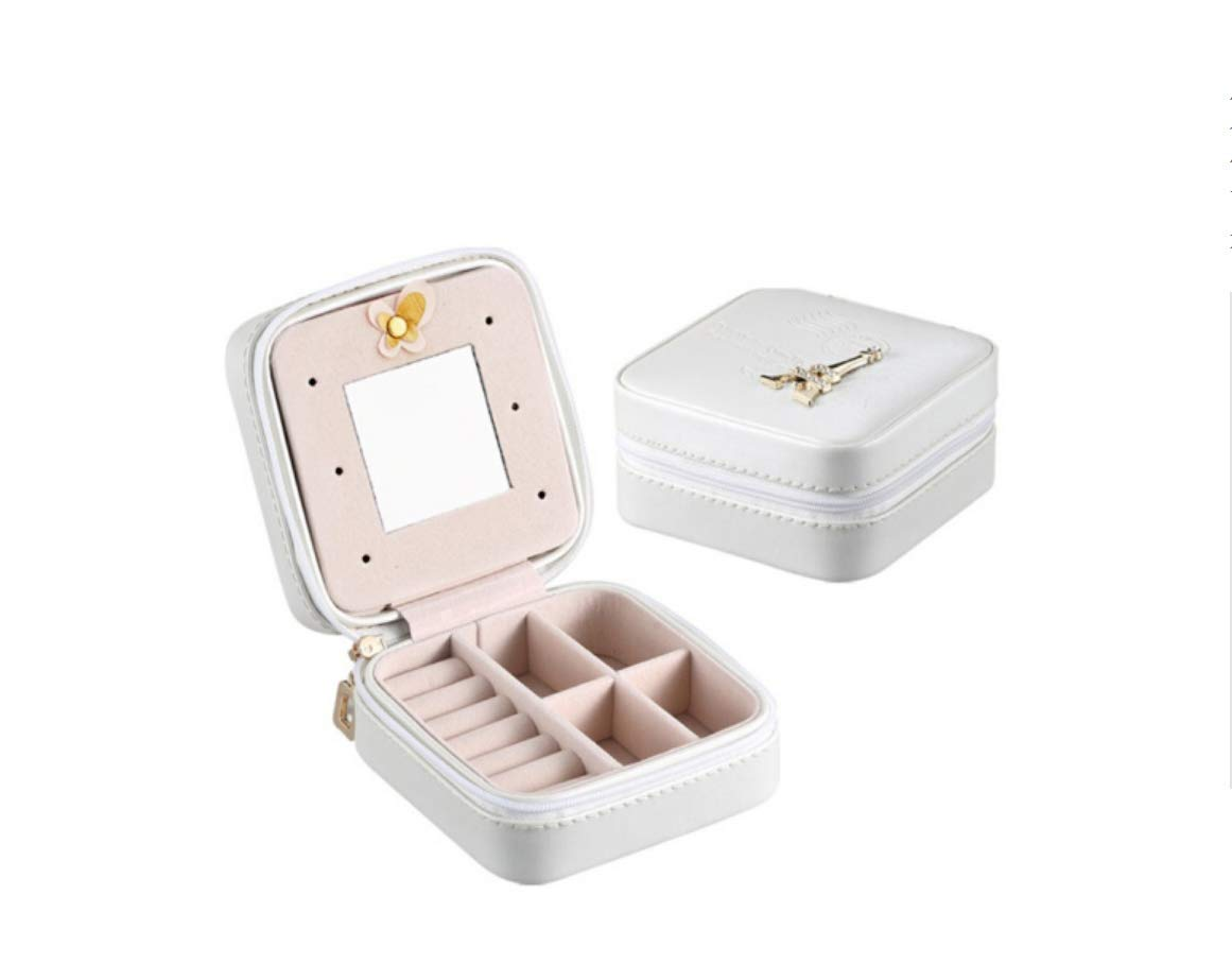 Portable Jewelry Box Travel Schmuck Tasche Prinzessin Petite Ring Ohrstecker Schmuck Box Schmuck Aufbewahrungsbox Schmuck Box Ring Box (Farbe    7)