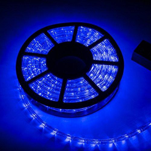 Christmas Promotion Ainfox 110V 100Ft Pvc Tubing Led Rope Light Decorative Party Christmas Restaurant Light Kit  Blue