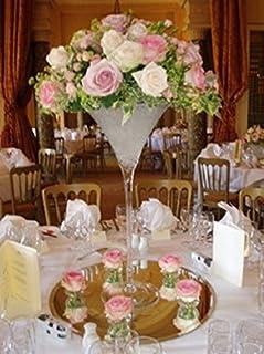 homedelight 70cm martini vase glass wedding table centrepiece and rh amazon co uk Glass Centerpieces for Weddings martini glass vases wedding centerpieces