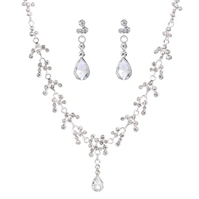 7cda4800967e Beuya Conjunto Joyas Mujer Diseño Clasico Moda Collar Colgante y Pendientes  Original Regalo para Conjunto de Joyas de Perlas para Mujer  Amazon.es   Joyería