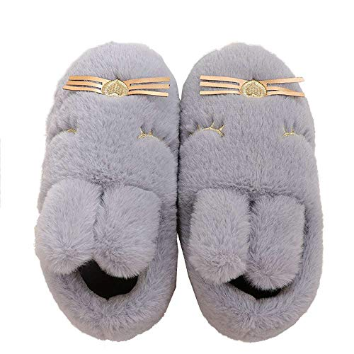 Kids Animal House Slippers Bunny Cute Family Indoor Outdoor Fuzzy Home Booties by Luobote (Image #1)